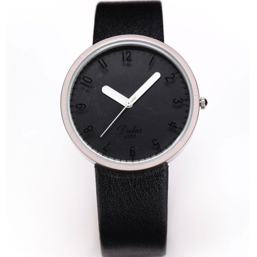 AMPM24 Fashion Women Lady Black Dial Leather Sport Quartz Wrist Watch Gift