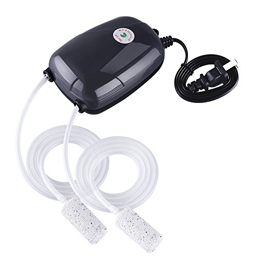 VicTsing Ultra Silent High Out Energy Efficient Aquarium Air Pump Fish Tank Oxygen AirPump With 2 Air stone/2M Silicone Tube (Air Pumps For Fish Tanks compare prices)