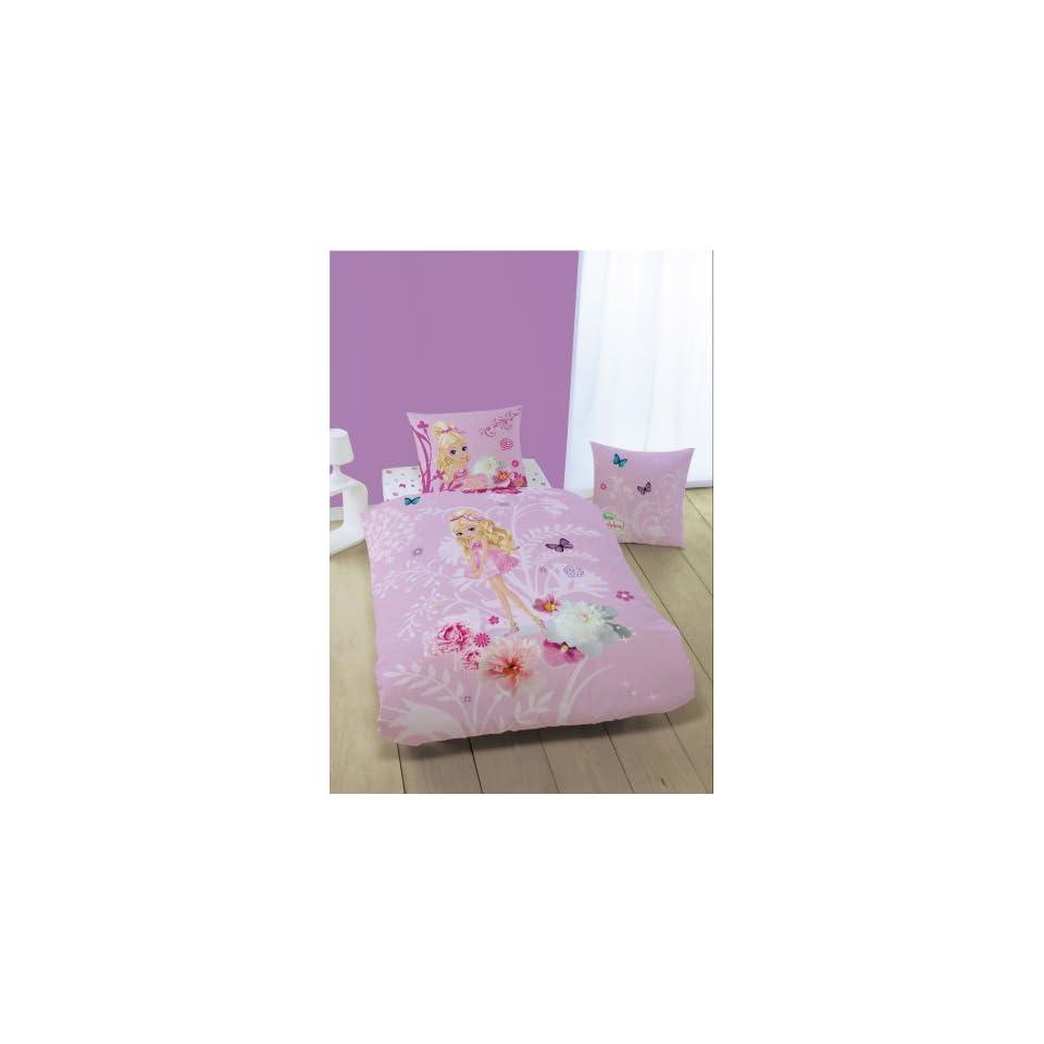 Cti 036837 Bettwäsche Barbie Thumbellina 135 X 200 Mit 80 X 80 Cm On