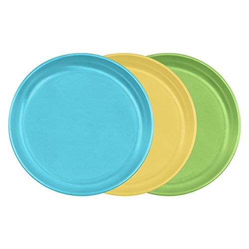 Green Sprouts Sprout Ware Plate - Aqua Assortment - 3 ct