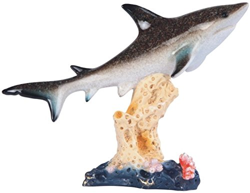 StealStreet SS-G-54331 Great White Shark with Coral Reef Figurine, 8.5