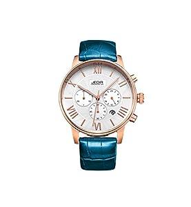 JEDIR ML2012GBE-7NO Fashion Design Quartz waterproof Watch with Leather Watchband.