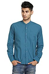 Skatti Band Collar Slim Fit Shirt