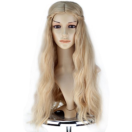 Miss U Hair Maleficent Princess Aurora Wig Long Wavy Mixed Blonde Wig with Braid Cosplay Anime Wig