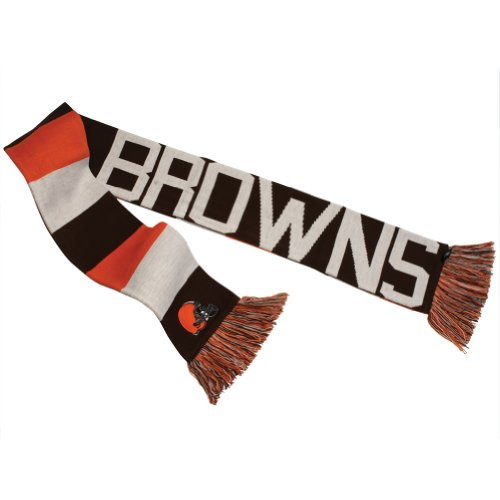 Cleveland Browns -Mens Baker Reversible Striped Knit Scarf Dark Blue at Amazon.com