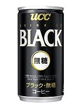 (お徳用ボックス) UCC BLACK無糖 缶185g ×30本