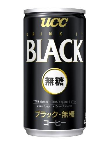 UCC BLACK無糖 185g×30本