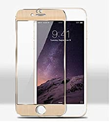 Kapa Metal Alloy Anti Burst Tempered Glass Screen Guard Protector for iphone 5 5S- Gold