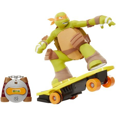 Teenage Mutant Ninja Turtles Remote Control Skateboarding Mikey, Walmart Exclusive Perform radical stunts like 360's, 720's, 1-foot spins and wheelies