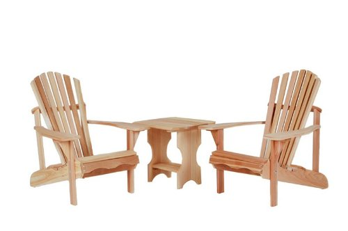 3pcs Outdoor Patio Adirondack Chairs and Side Table Set