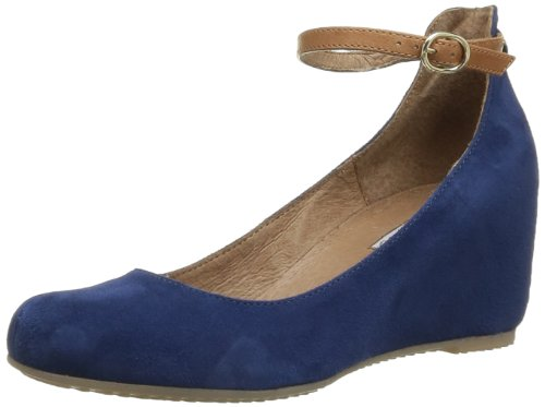 Donna Piu Women's Alessandra Lace-Up Flats Blue Bleu (Camoscio Indaco Roger Cuoio) 7 (41 EU)
