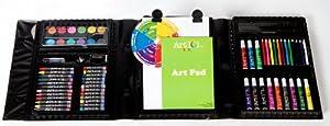 Art 101 78-Piece Trifold Easel Art Set