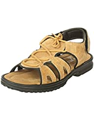 BACCA BUCCI MEN TAN TEXTILE SANDALS