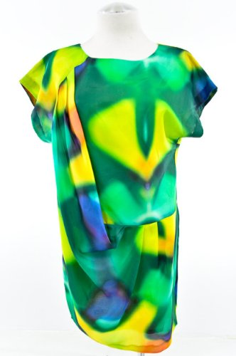 Trina Turk Multi Colored Bolinas Silk Mini Dress