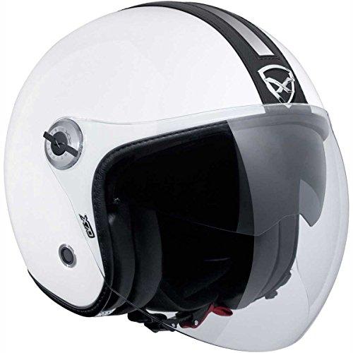 Motorcycle Nexx Jet Helmet X70 Groovy Whi Blk XS UK