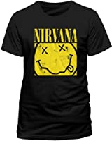 Nirvana Men's Box Smiley Short Sleeve T-Shirt