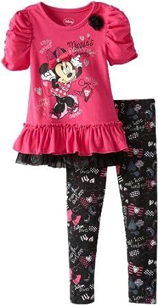(新品)迪斯尼Disney Girls 2-6X  Minnie Mouse 女童套衫+长裤两件套仅$16.99