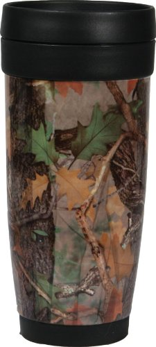 River's Edge 16-Ounce Stainless Steel and Plastic Travel Mug (Fall Transition Camo) (Camouflage Coffee Mug compare prices)