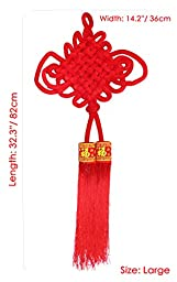 Pure Handmade Chinese knot Tassel for Home Decoration or Office Decoration (Large)