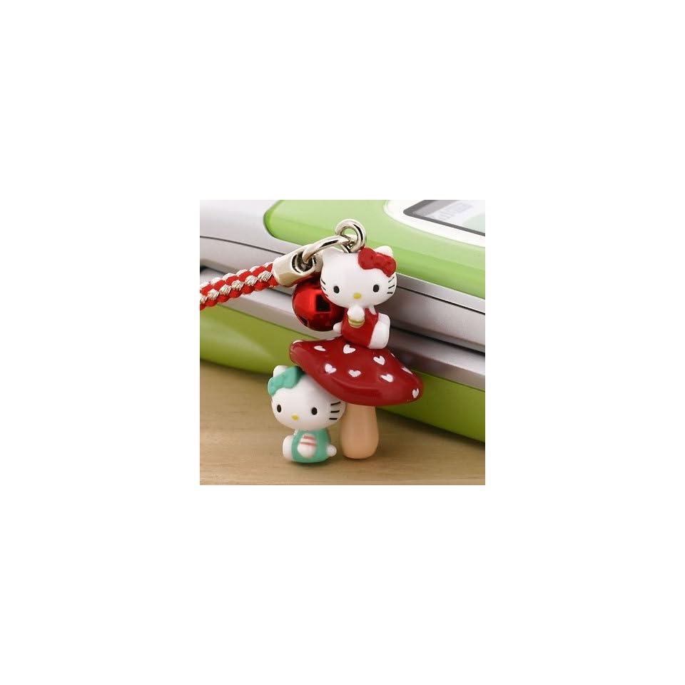 Sanrio Hello Kitty with Mushroom Netsuke Cell Phone Strap