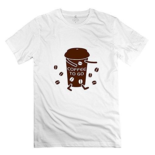 Unique 100% Cotton Coffee T Shirt For Men'S