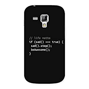 Ajay Enterprises True Real Programer Life Back Case Cover for Galaxy S Duos
