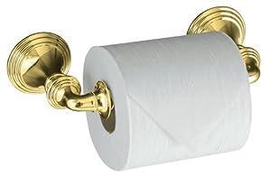 KOHLER K-10554-PB Devonshire Toilet Tissue Holder, Double Post, Vibrant Polished Brass