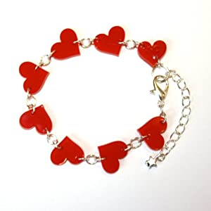 Sour Cherry Red Heart Bracelet