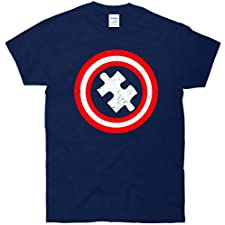 Captain Autism Distressed Shield T-Shirt