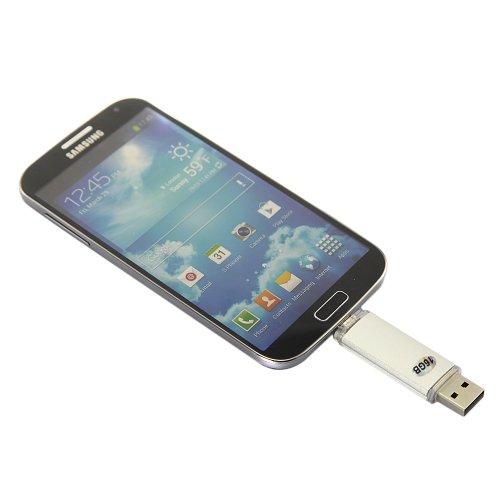 Gadgetzone 16Gb Smartphone U Disk Usb Flash Drive Card Reader Camera Connection Kit For Mac Pc Xoom Galaxy S3 / Galaxy S4 / S1 / S2 I9100 I9103 I9108 Note / Nexus Tg01 Nokia N8 E7 (White)