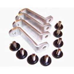 Radiator Mounting Bracket Set (6-32 UNC) - Brackets for mounting your radiator to an 80mm / 120mm fan mount or a flat case panel