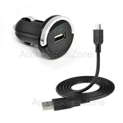 For Cricket ZTE Engage Score M Score Chorus Power Car Charger Adapter USB Data Charging Cable