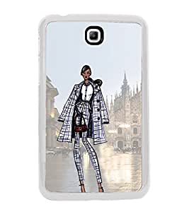 Smart Dressed Women 2D Hard Polycarbonate Designer Back Case Cover for Samsung Galaxy Tab 3 8.0 Wi-Fi T311/T315, Samsung Galaxy Tab 3 8.0 3G, Samsung Galaxy Tab 3 8.0 LTE