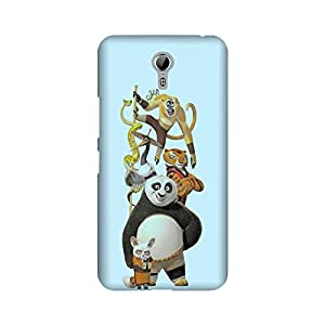 Lenovo Zuk Z1 Perfect fit Matte finishing Kung Fu Panda Movies & TV Series Mobile Backcover designed by Abaci(Blue)