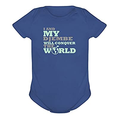 I and my Djembe will conquer the world Baby onesie