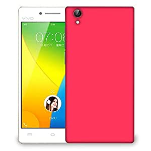 Snoogg Plain Red Designer Protective Phone Back Case Cover For VIVO Y51 L