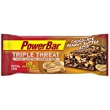 PowerBar Triple Threat Protein Recovery Snack Bar, Chocolate Peanut Butter Crisp,  1.76 Ounce (Pack of 15)