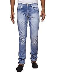 John Wills Men's Slim Fit Jeans (MCR1020(L)--34, Blue, 34)