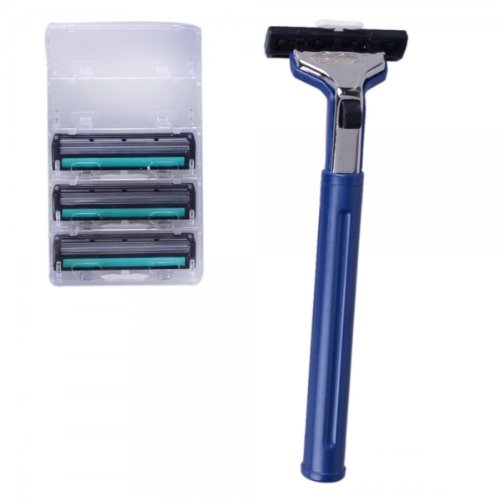 Baili Bp128A Four-Head Manual Safety Shaving Razor Blue By Preciastore