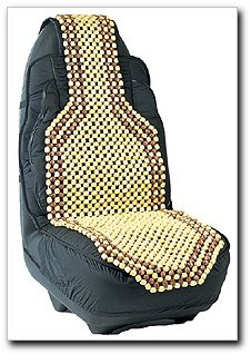 Image of Comfort Bead Wood Beaded Seat Cushion