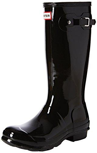 Hunter Hunter Original Gloss - Stivali da Pioggia Unisex - Bambini, Nero (Black), 32 EU