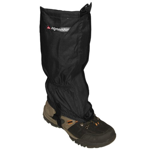 Highlander Xtp Waterproof Walking Gaiters Hiking Trekking Camping Ripstop Black