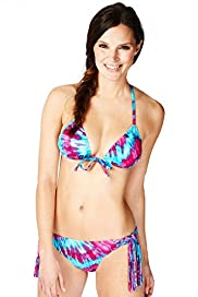 Limited Collection Tie Dye Macramé Bikini Top