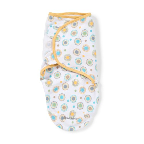 Summer Infant SwaddleMe  Adjustable Infant Wrap, Circle Burst, Small/Medium