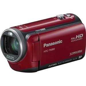 松下Panasonic HDC-TM80R HD双存储便携摄像机$269.99