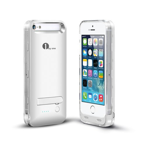 [Apple Mfi Certified] 1Byone 2400Mah Iphone 5/5S Battery Case [Silver], Backup Battery Charger Case Extended Battery Life For Locked Or Unlocked Iphone 5 & 5S, Compatible With Verizon, Sprint, Tmobile, At&T Wireless, Original Apple 8-Pin Connector, Ios 7