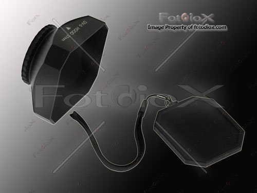Fotodiox Video Camera, Camcorder DV Lens Hood, Sun Shade, 27mm Black