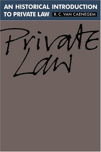 An Historical Introduction to Private Law Hardback