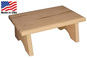 Country Red Wooden Step Stool from Collections Etc