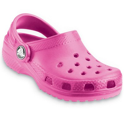 Crocs Girls' Classic Fuchsia Rubber Clogs-And-Mules-Shoes 3 Uk